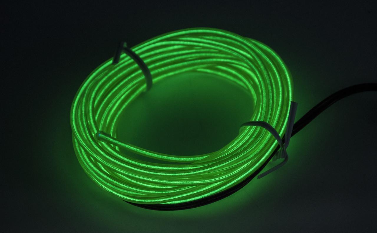 """Холодний неон БЕЗ КАНТА """"Car EL SMART WIRE"""" 5м / Зелений"""