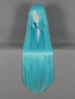 Парик косплей голубой с челкой 100 см