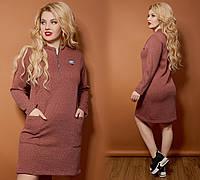 Женское платье ткань ангора клетка софт удобное батал размер:48-50,52-54,56-58,60-62