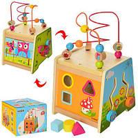 Развивающая деревянная игрушка (бизиборд, пальчиковый лабиринт) арт. 23086