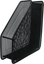 Лоток для паперів вертикальний металевий 1 відділення,чорний Leader 535500
