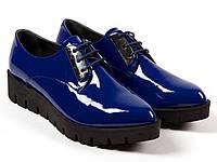 Яркие синие женские туфли