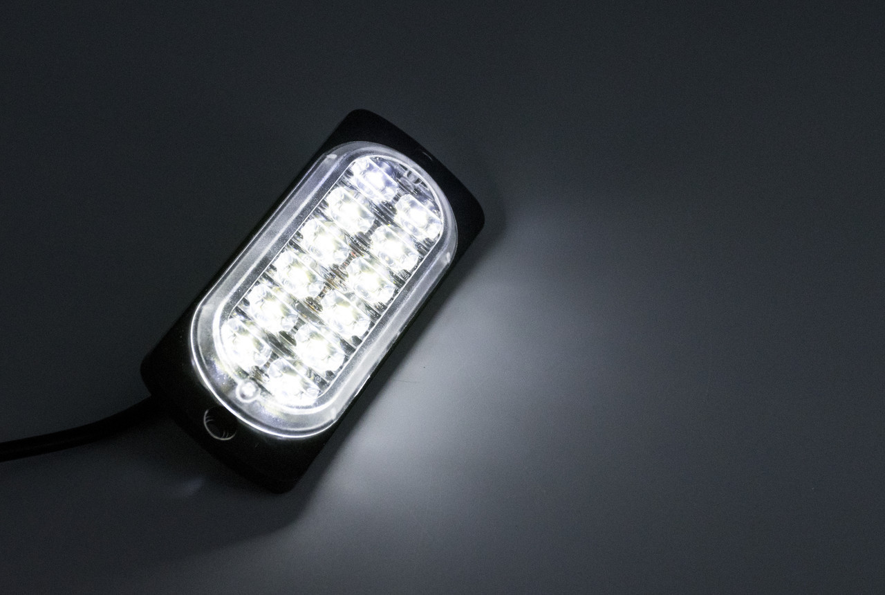 Сигнальные LED WARNING LIGHT/12LED/18 Режимов/Белый/10v-30v