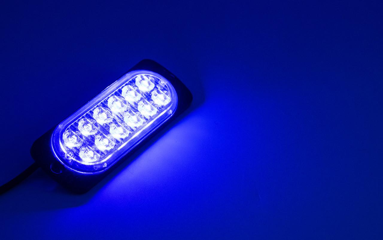 Сигнальные LED WARNING LIGHT/12LED/18 Режимов/Синий/10v-30v