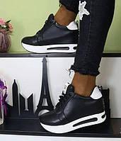 Кроссовки женские 6 пар в ящике черного цвета 36-41, фото 1