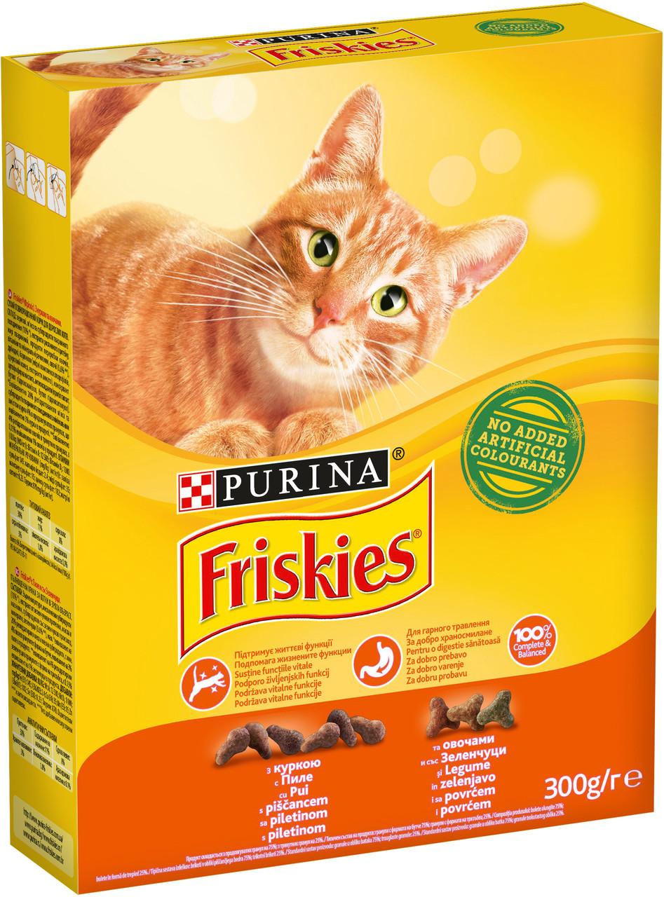 Сухой корм для котов Purina Friskies с курицей и овощами, 300 г