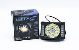"Фара доп света с красно-синим стробоскопом ""Motoled 6 LED B/R / 1шт"