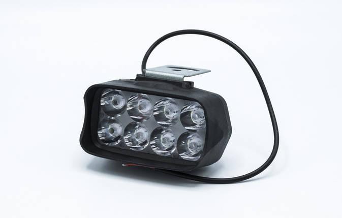 """Светодиодная фара с функцией стробоскопа """"Car/Motolcyle""""  8 LED-F / 1шт, фото 2"""