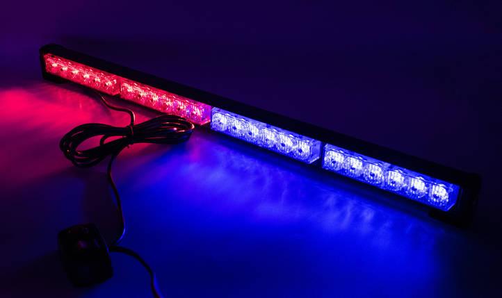 Стробоскопы LED БАЛКА NEW  60см/ COB1-4 / СинКрасная (В/Г/Д - 36х41х 600мм), фото 2