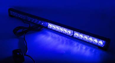 Стробоскопы LED БАЛКА NEW  60см/ COB1-4 / СинКрасная (В/Г/Д - 36х41х 600мм), фото 3
