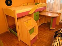 Кровать чердак Александра, массив дуб, ясень, фото 1