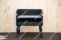 Чугунный разборный мангал 54см. с чугунной решеткой и рамкой для шампуров. BBQ - комплект
