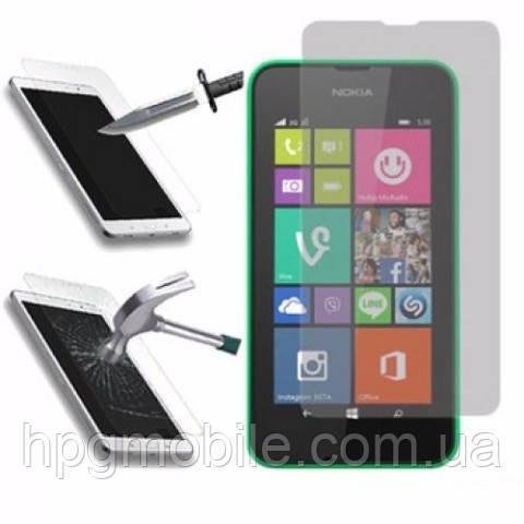 Защитное стекло для Nokia Lumia 530 - 2.5D, 9H, 0.26 мм
