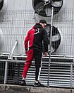 Теплое мужское худи Sad Smile красно-черное, фото 5