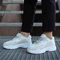 Мужские кроссовки Крос Баленсиага (белые)