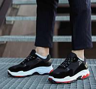Мужские кроссовки Крос Баленсиага (черные)