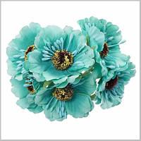 Тканевые цветочки и листики