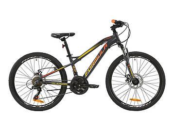 """Велосипед AL 24"""" Formula BLACKWOOD 1.0 AM DD 2020 (серо-красно-оранжевый (м))"""