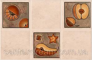 Декор Интеркерама Лючия 23x35 светло-бежевый (21-2)