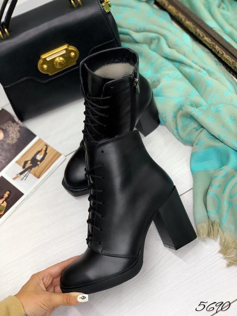 Ботинки демисезон кожа на устойчивом каблук: натуральная кожа В наличии и под заказ