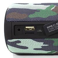 Колонка ZEALOT S32 Camouflage (Зеалот) Bass Bluetooth FM радио micro USB micro SD карта 3D 52mm speacker