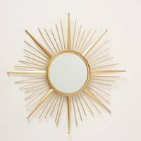 Настенное зеркало Закат золото металл 1017240-1 солнце