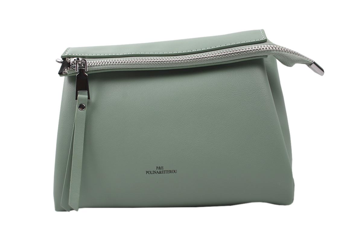 Елегантна жіноча сумка еко-шкіра, колір зелений