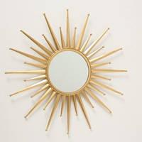 Настенное зеркало Звезда золото металл 1017240-3 солнце