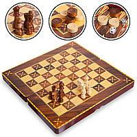 Настольная игра 3 в1 шахматы, нарды, шашки MDF Zelart Chess Set 7788 (39x39 см)