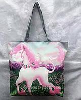 Женская сумка шоппер тканевая молодежная летняя