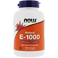 Витамин Е, Now Foods, 1000 МЕ, 100 капсул