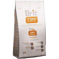 Корм для собак Brit Care Adult Medium Breed Lamb & Rice 1 кг, брит для собак средних пород с ягненком и рисом