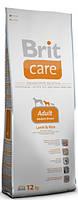 Корм для собак Brit Care Adult Medium Breed Lamb & Rice 12 кг, брит для собак средних пород с ягненком и рисом