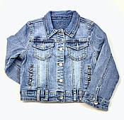 Джинсовая куртка для девочки Resser Бусины 3751 (р.3,4,5,6,7,8 лет)