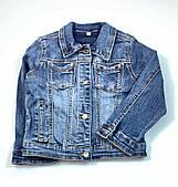 Джинсовая куртка для девочки Resser Пайетки 5134 (р.1,2,3,4,5 лет)