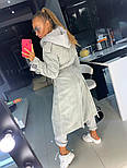 Женский длинный вельветовый тренч двубортный под пояс vN6623, фото 6