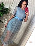 Платье с фатиновой юбкой и кружевным верхом с коротким рукавом vN6644, фото 3