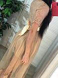 Платье с фатиновой юбкой и кружевным верхом с коротким рукавом vN6644, фото 4