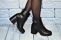 Симпатичные женские ботинки с брошкой,  размеры 36-41