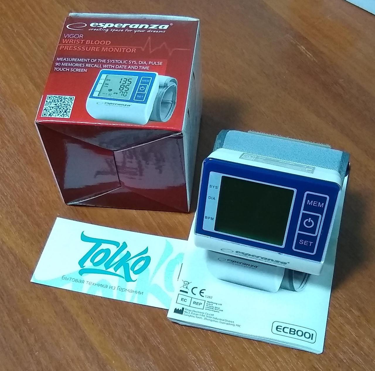 Тонометр Esperanza ECB001 Vigor