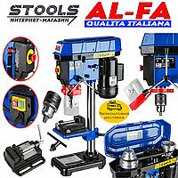 NEW Сверлильный станок AL-FA ALDP16 1600Вт | +Тиски | +Патрон 16мм | Гарантия 1 год