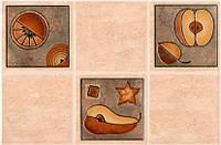 Декор Интеркерама Лючия 23x35 темно-бежевый (22-2)