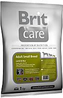 Корм для собак Brit Care Adult Small Breed Lamb & Rice 1 кг, брит для собак мелких пород с ягненком и рисом