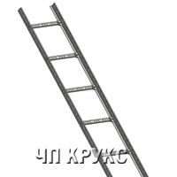 Лестничный лоток 30х400, оцинкованный, длина 3м, t=2,00мм