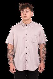 Мужская рубашка с коротким рукавом Lerros 204 бежевая