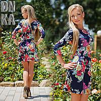 Платье молодёжное цветы  № 359.1   Гл