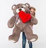 Плюшевий ведмедик із серцем Mister Medved Латки Капучіно 100 см, фото 3