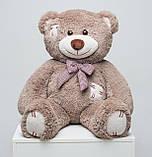 Плюшевий ведмедик із серцем Mister Medved Латки Капучіно 100 см, фото 4