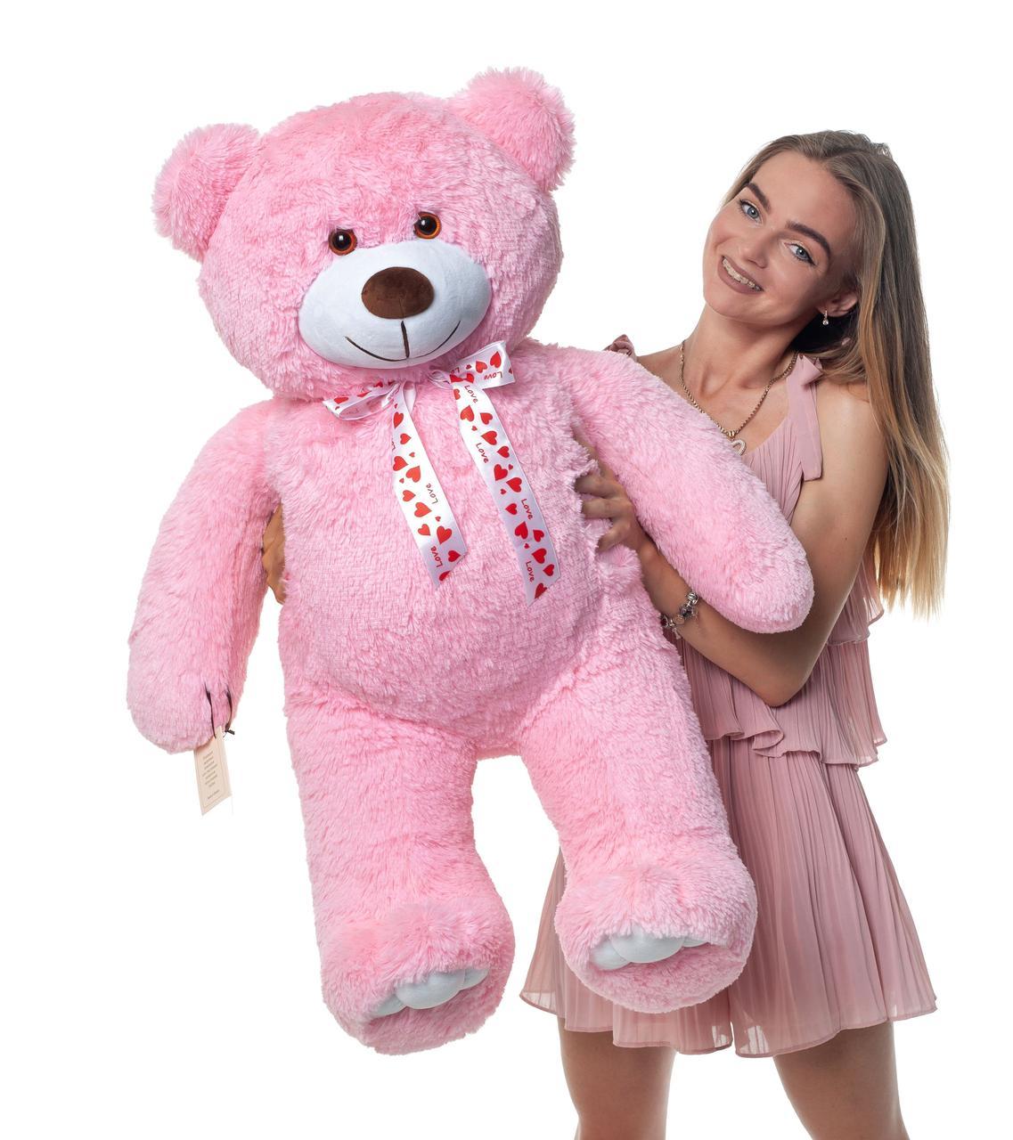 Плюшевый мишка Mister Medved Розовый 110 см