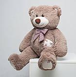 Плюшевий ведмедик Mister Medved з латками Капучіно 100 см, фото 2